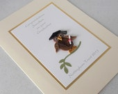 Graduation card, quilled, personalized, wise owl
