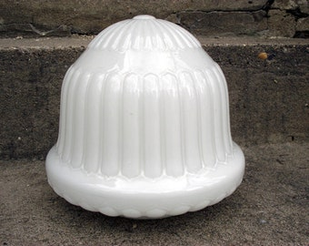 Large Milk Glass Vintage Dome, Vintage Globe Light Sale price