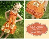 INSTANT Download PDF SIG Olivia Knot Dress Pattern - Size 12 month to 5 youth
