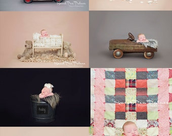 PRO PHOTOGRAPHERS COLLECTION- Newborn Baby Photography Prop Digital Backdrop for Photographers  Any 50 for 200
