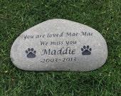 Personalized Dog Memorial Stone Pet Memorial Headstone Grave Marker 10 - 11 Inches Memorial Burial Stone Marker