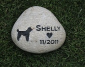 Pesonalized Poodle Pet Memorial Grave Stone & Other Dog Breeds 8-9 Inch Memorial Gravestone Burial Marker