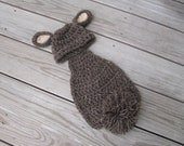 Crochet Newborn Bunny Cape, Newborn Photo Prop, Holiday, Halloween
