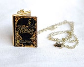 Sherlock Holmes Necklace - Sherlock Holmes Book Locket
