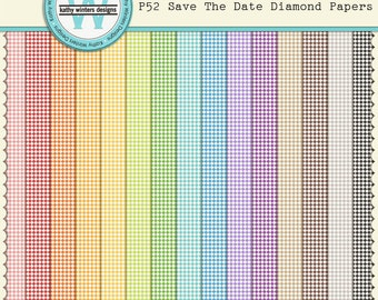 P52 Save The Date Diamond Papers