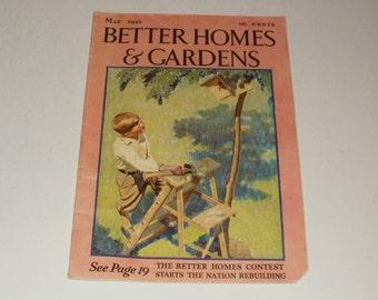 Vintage Better Homes and Gardens Magazine May 1933 - Retro 1930s Art Scrapbooking Paper Ephemera