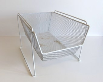 Vintage storage wire basket