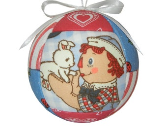 Raggedy Andy Christmas Ornament Holiday Ornament for Kid and Child Ornament Home Decor Kimekomi Ornament by CraftCrazy4U