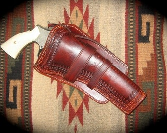 "Made to Order - Custom Mexican Loop Holster for Ruger GP-100/6"" barrel."
