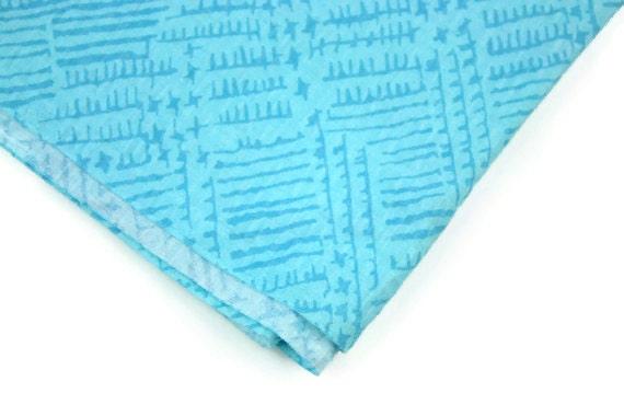 Vintage Fabric Aqua Blue Seer Sucker
