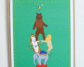 Circus - Illustrated Animals Print
