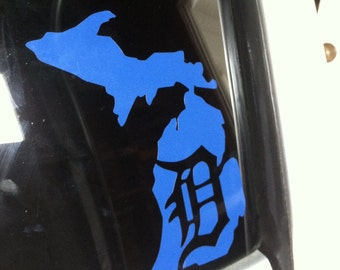 Detroit Michigan Decal Old English D