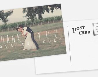 Wedding Thank You Postcards: Rustic