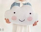 Knit Cloud Pillow :) WHITE
