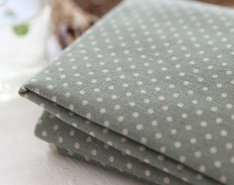 A Yard of Dots on Murky SKY Linen Blended WIDE 145cm, U7039