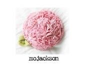 handmade flower pin brooch pink