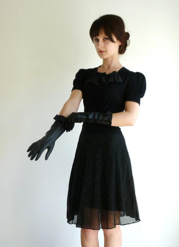 Vintage leather opera gloves