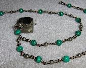 Malachite Necklace,  Pyri...