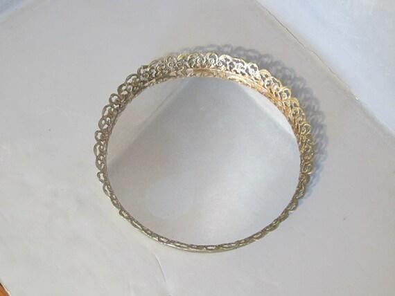 Vintage Small Round Vanity Mirror Tray Silver By Milkacervenka