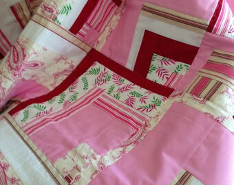 Valentine Quilt, Couch Throw, Baby, Youth Toddler Blanket