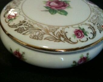 Vintage Schumann Germany Porcelain Dresser Powder Trinket