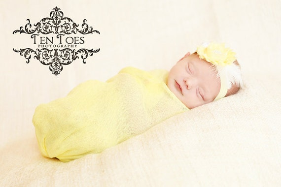 CLEARANCE Yellow Cheesecloth Fabric Wrap, Newborn Boy Girl Photo Props, Maternity Prop, Photography Layering Fabric