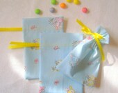 Blue Bunny Mini Gift or Goody Bags set of 3