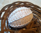 Crochet Lace Covered Plastic Easter Egg