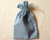 Blue Gingham Gift Bags Small
