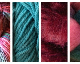 Hand Dyed Samples of Merino Wool DK Sport Weight Yarn in Desert Cactus