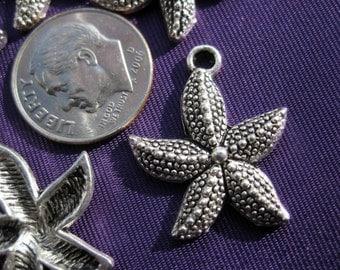 medium Starfish Charm 2 pieces Tibetan Silver Jewelry Supply Star fish