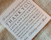 DIY Wedding Thank You Card - Thank You Design - your choice of colors - PDF File