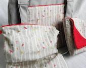CUSTOM Diaper Bag Set- Expedient Diaper Bag w/ Changing Pad and Wetbag- PREMIUM FABRIC