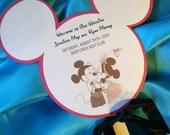 7 Inch Wedding Fan Program Favor Mickey Mouse Ears