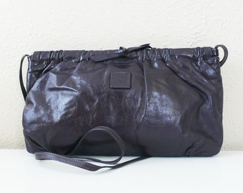 Vintage Anne Klein for Calderon Eggplant Leather Purse