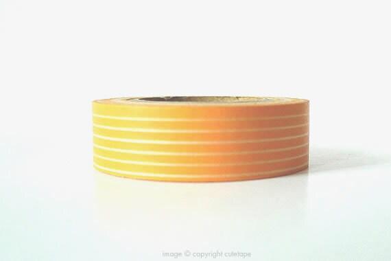 Lines Orange Washi Tape (Chugoku) -  gift packaging or card making