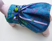 Batik Dog Dress - Include leash - SMALL (Perfect for a Summer Wedding) - thedoggiehouse
