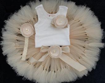 Birthday Tutu | 1st Birthday Tutu Dress | Baby Birthday Tutu | Cake Smash Tutu | Tutu Skirt | Champagne Birthday Tutu
