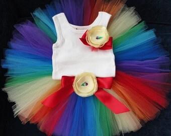 Birthday Tutu | 1st Birthday Tutu Dress | Baby Birthday Tutu | Cake Smash Tutu | Tutu Skirt | Rainbow Birthday Tutu