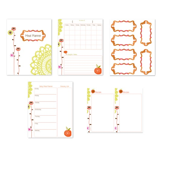 Clearance Sale. Instant. Meal Planner. Printable Files. Download.