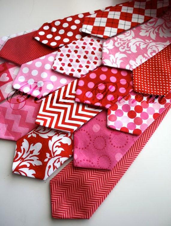 Little Guy VALENTINE Necktie Tie - Sweetheart Collection - (12 months - 2T) - Baby Boy Toddler - Custom Order - Photo Prop
