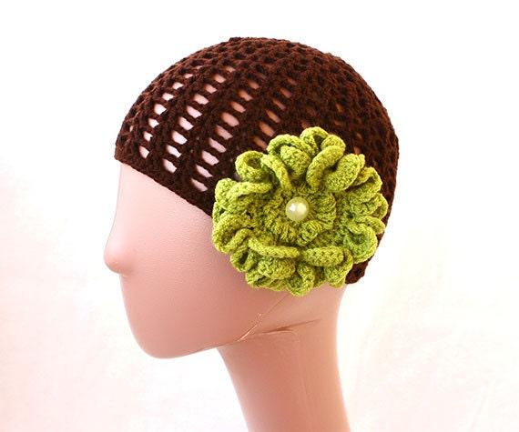 Summer Beanie Hat Crochet Pattern : Rosemary Lace Beanie Summer Hat Crochet Summer by SpringCasual