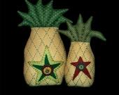 Primitive E Pattern pdf Folk Art Colonial Pineapples INSTANT DIGITAL DOWNLOAD