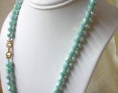 3 PLUS DEAL - the rain dance aqua crystal necklace
