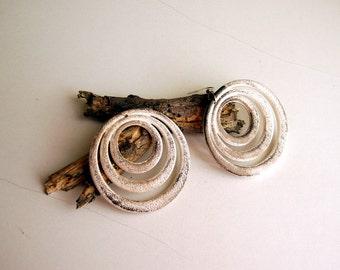 Earthy ,Primitive Tribal style  natural Worn Wooden looking huge earrings