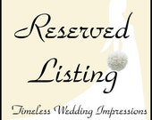 Reserved for Etsy user -- Loretta La Rosa -- only - Custom Real Touch Wedding Package