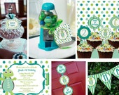 Turtle Boy Banner Candy Label Birthday Party - Stick to Your Story