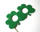 Photo booth Props. Wedding Photo Props. Mustache. Photo Props. Mustache on a Stick. Glasses on a Stick - The Lucky Shamrock