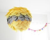 "Handmade custom Pull string Pinata/Party Lantern- 8"" diameter- gender reveal pinata"