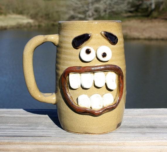 Extra Large 24 Ounce Coffee Mug. NEW GLAZE Tan